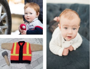 Skilled Trades Baby Sweaters Crochet Pattern Ebook - Baby Construction Worker, Baby Chef, Baby Auto Mechanic