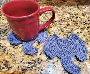 Elephant Coaster Crochet Pattern
