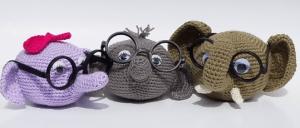 Elephant Eyeglass Holder Crochet Pattern
