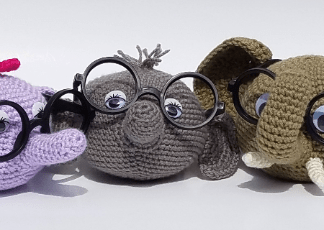 Elephant Eyeglass Holder Crochet Pattern