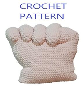 Pink Power Pillow Crochet Pattern - Rainbow Power Pillow Crochet Pattern