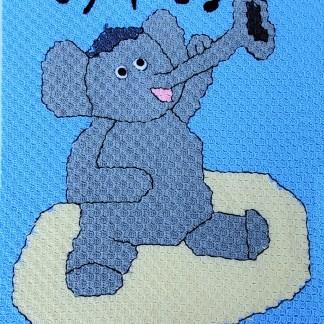 Miles the Jazzy Elephant blanket pattern