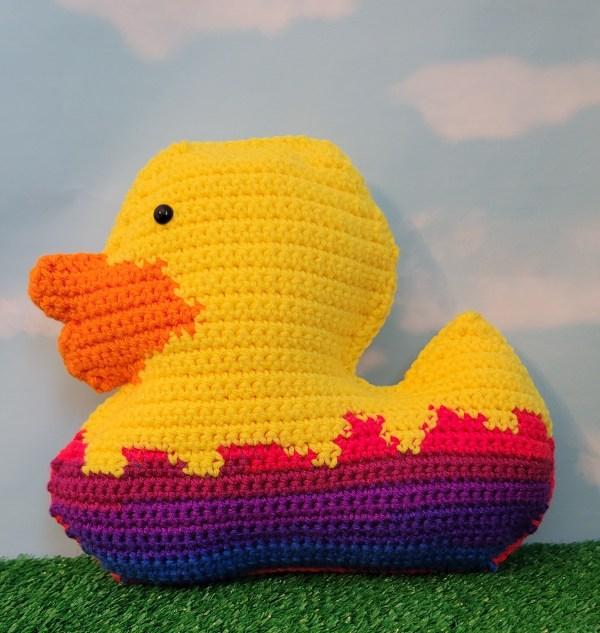 Duck in Easter Egg Cuddler Crochet Pattern