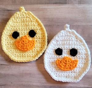 Duck Potholder Crochet Pattern