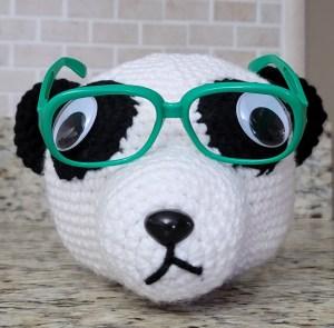 Panda Eyeglass Holder Crochet Pattern