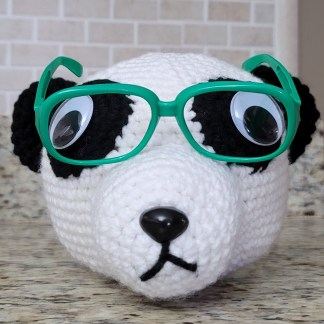 Panda Eyeglass Holder Crochet Pattern