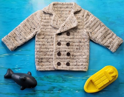 Toddler Pea Coat Crochet Pattern
