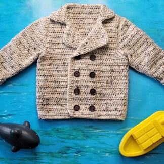 Toddler Pea Coat Crochet Pattern