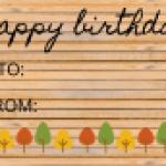 Fall birthday gift tag