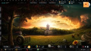 Beautiful Wallpaper Rainmeter Skin and theme