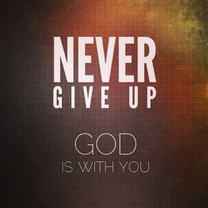 Never Give up whatsapp dp
