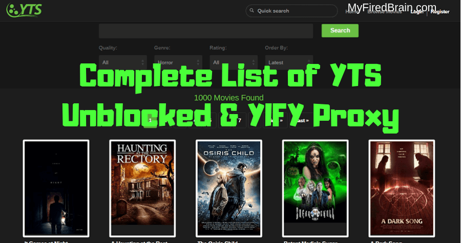 YIFY Unblocked and yts.ag proxy