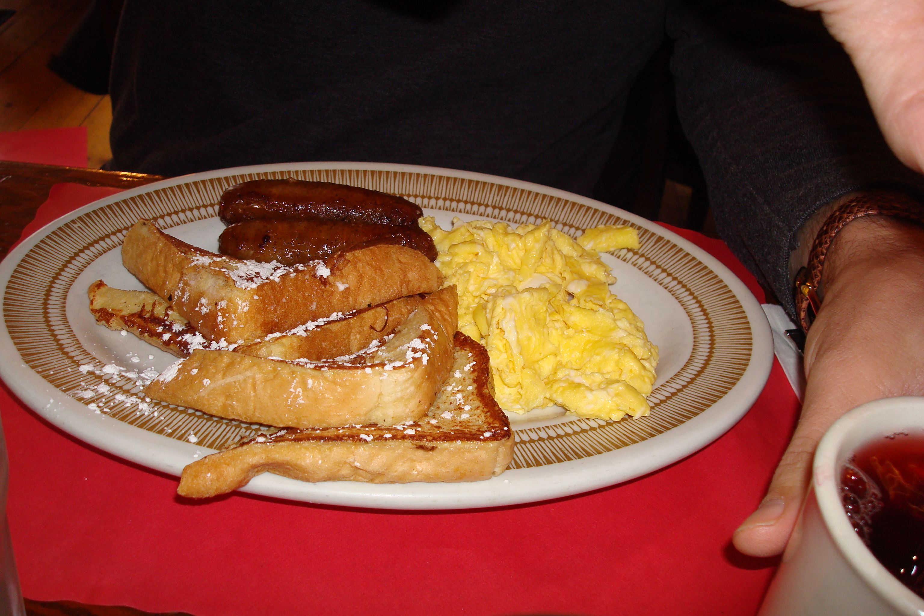 French Toast, Eggs, Sausage
