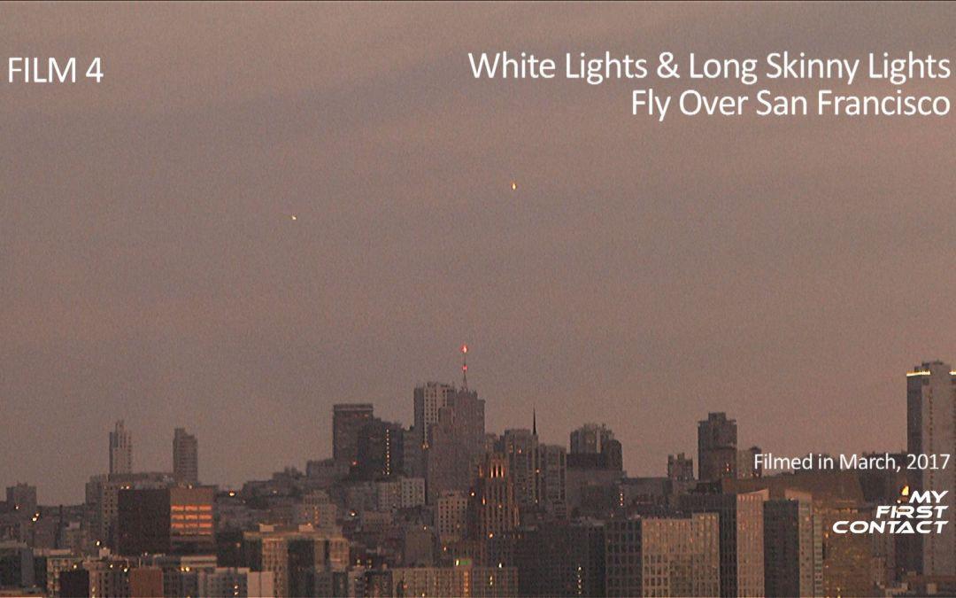 Film 4: White Lights & Long Skinny Lights Fly Over San Francisco
