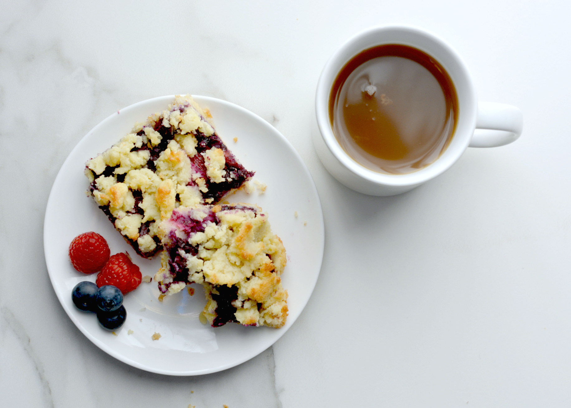 Berry Crumble Bars with Coconut Shortbread Crust