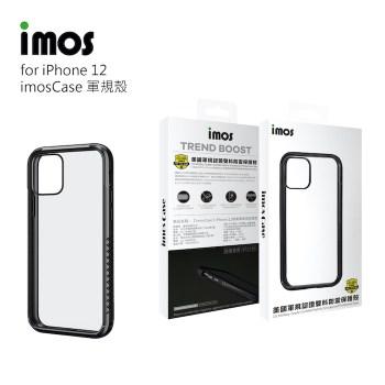 imos Case 耐衝擊軍規保護殼(M系列) for iPhone 12 潮流黑系列