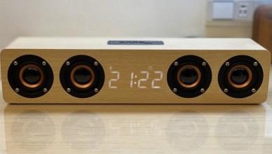 木質好質感YF-W8C藍牙音箱,搭配傢俱更加分