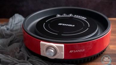 SANSUI 山水 多功能不挑鍋BBQ烤盤電陶爐SEC-H12,蒸煮烤炸炒一機搞定