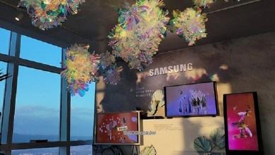 三星辦高空藝術展 101觀景台可體驗Z Fold2摺疊手機