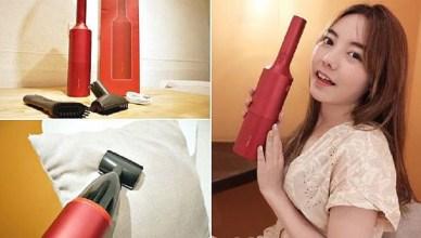 TiDdi SJ80 紅酒瓶隨手車用/家用吸塵器,時尚居家美學 強勁吸力 輕巧好攜帶