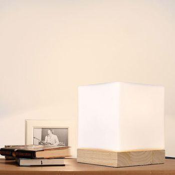 北歐簡約 實木方糖燈 LED夜燈/床頭燈/桌燈 (USB電源)