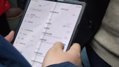 小米螢幕折疊手機實機照疑洩 MIUI 12配備內凹對折設計