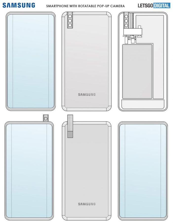Samsung 彈出式鏡頭專利技術圖