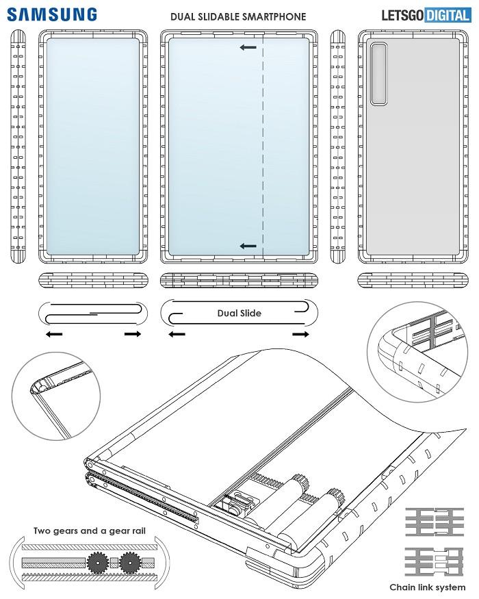 三星滑蓋智慧型手機專利
