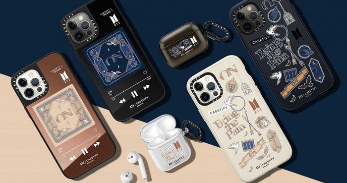 知名手機配件品牌CASETiFY再度與韓團BTS合作推出聯名手機殼、AirPods保護殼、手錶錶帶等配件。(圖/CASETiFY提供)