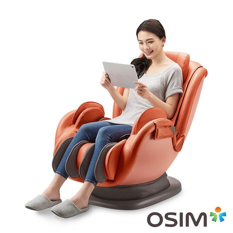 OSIM 音樂花瓣椅 OS-896 橘色 (按摩椅/按摩沙發/肩頸按摩)