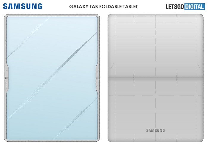 三星要推出Galaxy Tab可折疊平板電腦?示意圖曝光
