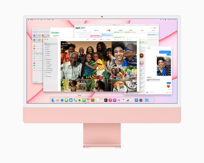 iMac 上搭載擁有突破性效能的 M1