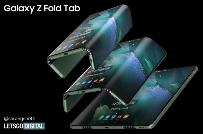 帶有 S Pen 的 Samsung Z Fold Tab