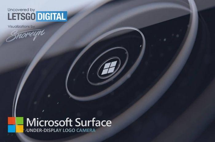 微軟 Surface 螢幕下 LOGO 的相機鏡頭