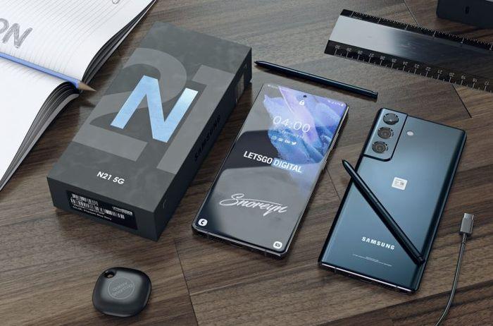 帶可拆卸相機鏡頭的Samsung Note智慧型手機