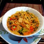 Red Thai Tom Yam Curry Noodle Soup