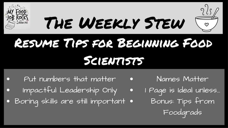 Resume Tips for Beginning Food Scientists - My Food Job Rocks!