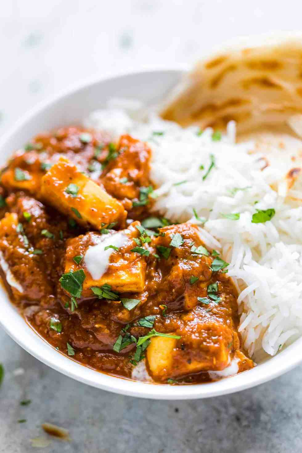 Here's an easy recipe for the perfect restaurant style paneer butter masala for all you paneer (cottage cheese) lovers! I love serving this with parathas and jeera rice. It's always a hit with family and guests!