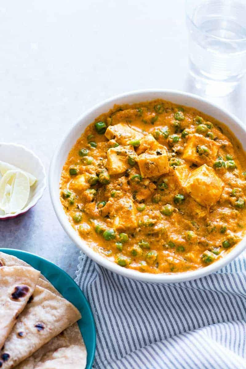 recipe: aloo matar paneer (simmered potatoes with peas and paneer) [15]