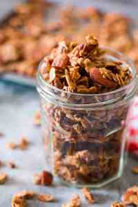 Fresh Apple Pie Granola (Vegan and Gluten Free)