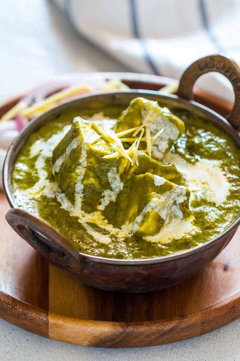 This is the easiest recipe you'll find for palak paneer. No need to blanch spinach, or grind masala, but great restaurant style palak paneer flavour!