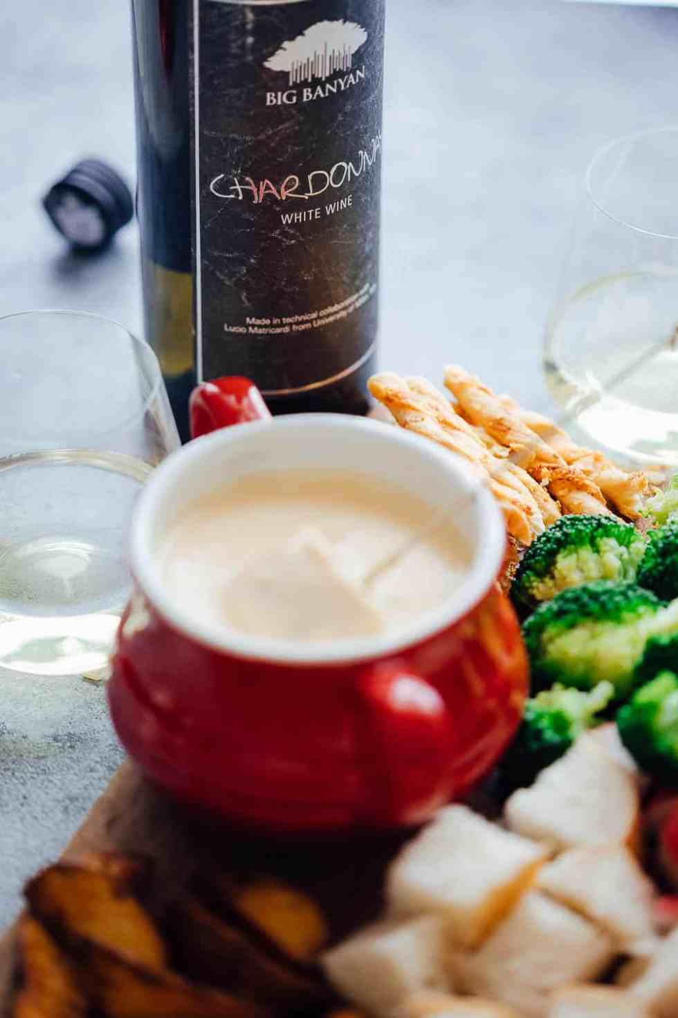 Serve up Easy cheese fondue with White Wine
