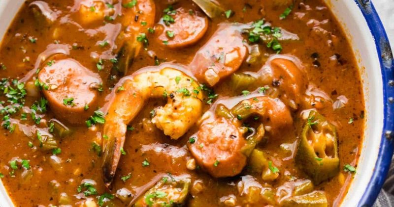 New Orleans Shrimp Sausage Gumbo - My Food Story