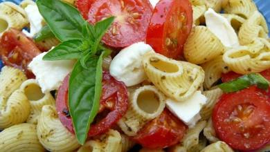 Caprese Salad Over Pasta