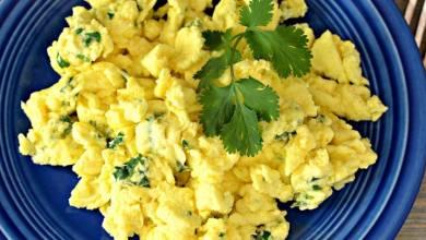 Scrambled Eggs Cilantro