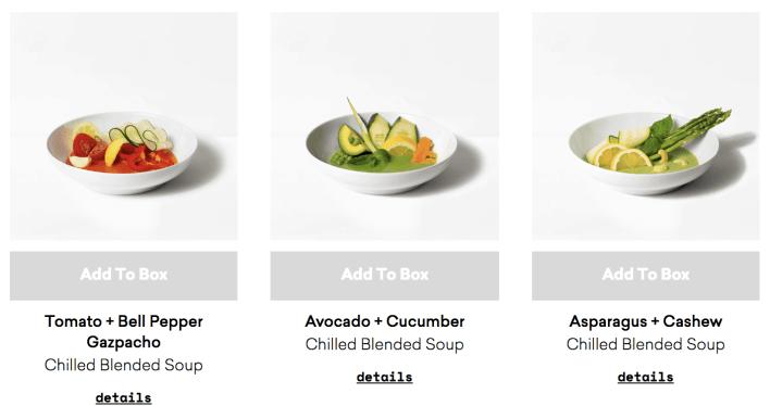 blended soup bowls