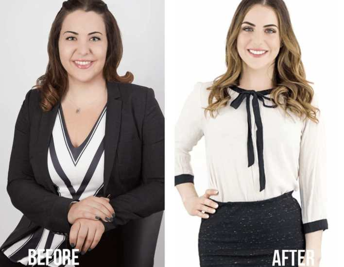 Jenny Craig before and after weight loss plan