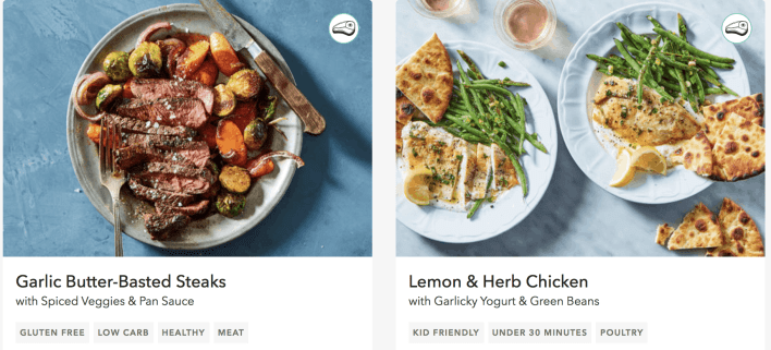 martha and marley spoon meal options