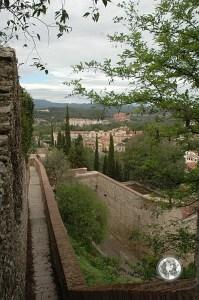 Вид на город с крепостной стены