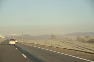 Утренний туман по пути